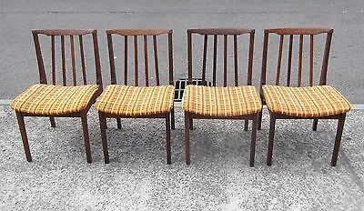 Set Of 4 Vintage  Afromosia Chairs    Delivery Available