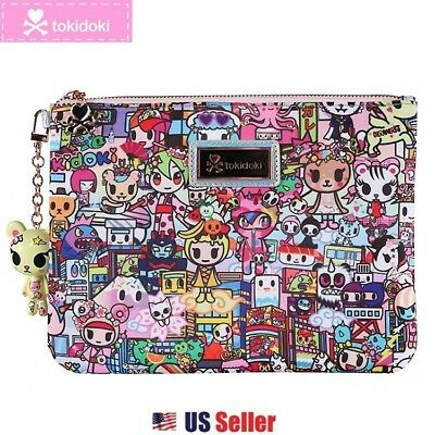 Tokidoki Zip Pouch w/ Removable Mascot Key Charm : Kawaii Metropolis Collection