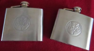 2 Bacardi Bat Flasks
