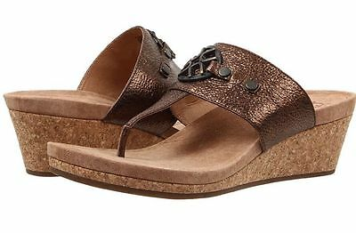 a86815a8ac8 UGG AUSTRALIA ASSIA Wedge Sandals Platform Brown Leather Us Size 10 ...