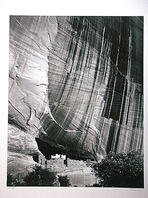 Peter Gasser, Fotografie 1979, signiert, Canyon de Chelly Arizona, (Ansel Adams)