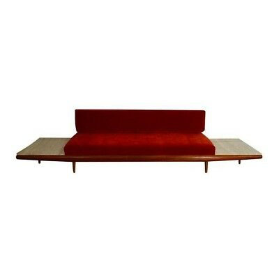 Adrian Pearsall for Craft Associates Gondola Sofa with Travertine End Tables