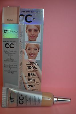 BNIB It Cosmetics CC+ Colour Correcting Full Coverage Cream travel size 4ml