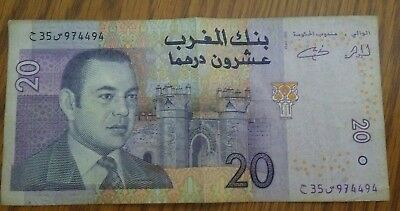 MOROCCO 20 Dirhams Banknote World Paper Money UNC Currency Mohammed VI 2005