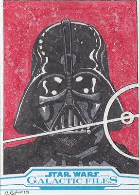 Star Wars Galactic Files Reborn 2017 - Clinton Yeager Sketch Card