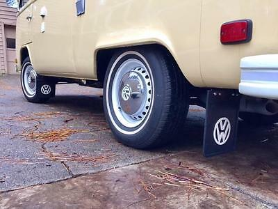 VW Type 2 Bus Samba Bay window Camper Barndoor Split Mud Flaps With Bracket Pair