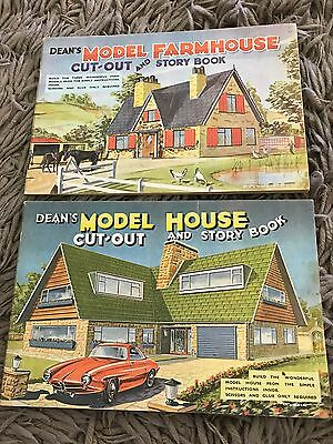 Dean's Model House & Farm House Cut Out & Story Book