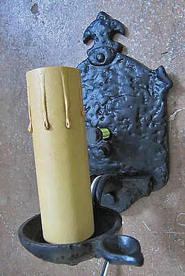 Vintage Iron Spanish Revival Wall Sconce