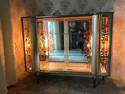 1960s Display Cabinet Cool Retro Ideal Prop Show Piece Mid Century Delivery Poss