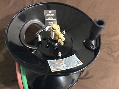 Twin Welding Hose Reel - 100' capacity with mounting bracket -  manual style