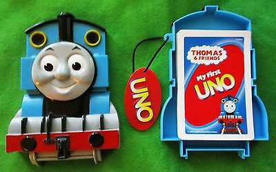 Thomas & Friends My First Uno Card Game In Plastic Train Case - Complete - 2006