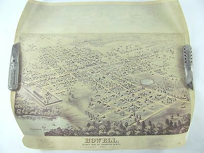 HOWELL Michigan 1877 Map Limited Edition Numbered LIVINGSTON COUNTY MICHIGAN