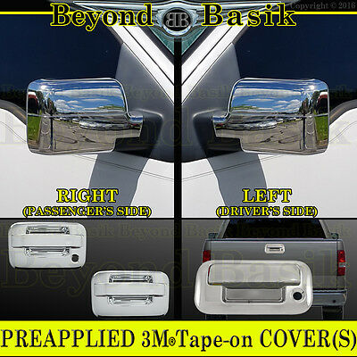 2009-2014 F150 Chrome Door Handle W//O KP W//PSK 4DR Tow Mirror Tailgate COVERS