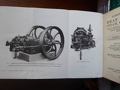 STATIONARY STEAM & OIL ENGINE BOOK 1919 LOTS ILLUSTRATIONS 375p SCARCE...LOOK..!