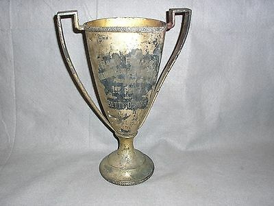 1928 Far Rockaway New York Baby Parade Trophy 1ST PRIZE Silver Plate Loving Cup