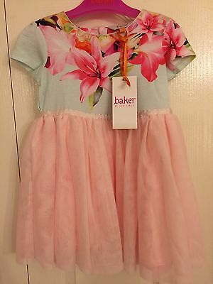 Ted Baker Baby Girls Floral Tulle Dress. Designer 18-24 Months. BNWT