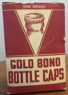 Vintage Gold Bond Bottle Caps With Original Box One Gross Unused Caps - Free S/H