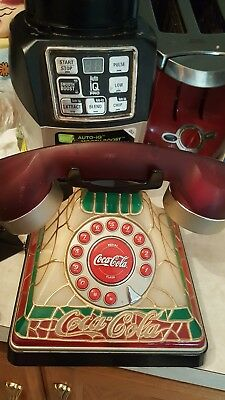 Coca cola stained glass look telephone