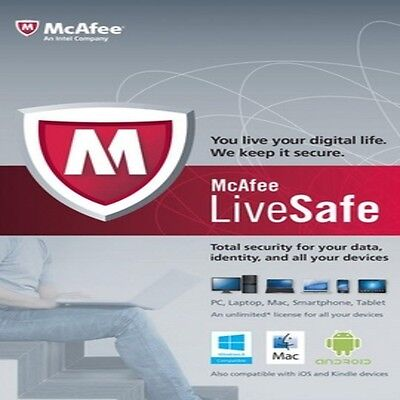 McAfee LiveSafe | 2 Years | Unlimited Devices