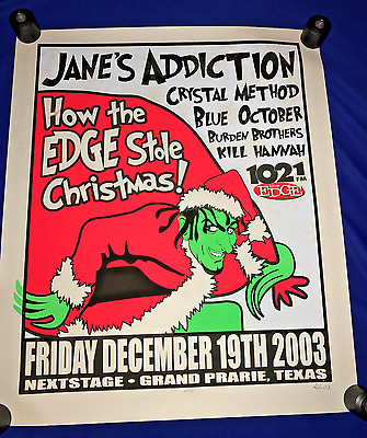 T 2003 GIANT SCREENED Janes Addiction Crystal Method Blue October CONCERT POSTER