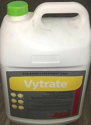 Jurox Vytrate Liquid Conc. 5Lt. Expired Jul 2017 - Efficacy may be reduced