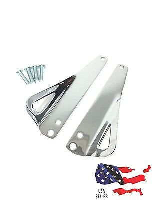 Chrome Tie-Down Brackets 93500006 Harley 1990's to 2013 ROAD KING ELECTRA GLIDE