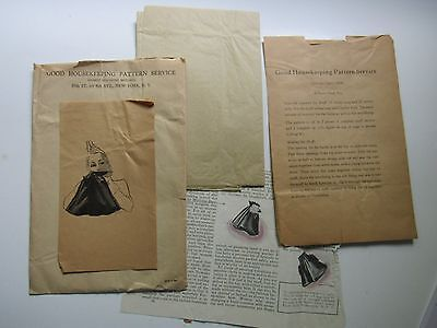 Good Housekeeping Antique 1930s Sewing Pattern Muff Bag Instructions Advertising