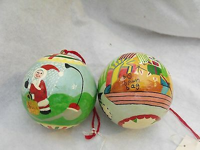 Bloomingdale's Decoupage Ornaments, Minneapolis, Set of 2, New w/Tags