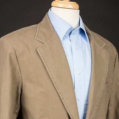 L.L. BEAN 100% Cotton Bosses Field Jacket Sports Coat Dark Khaki Size 42R