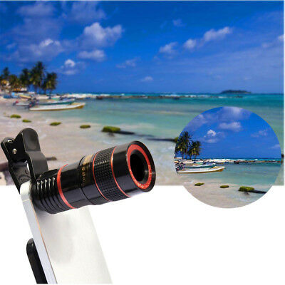 Universal Clip-on 12x Optical Zoom HD Telescope Camera Lens for Smart Phone US