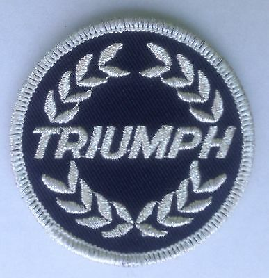 Triumph Wreath Cloth Patch Tr2 Tr3 Tr4 Tr5 Tr6 Tr7 Herald 2000 2500 2.5 Spitfire