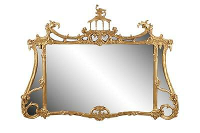 Friedman Brothers Chinese Chippendale Gold Gilt  Wall Mirror