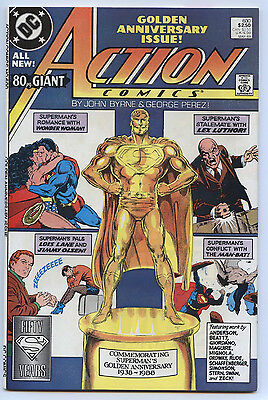 ACTION COMICS #600 May 1988 NM+ 9.6 80-Page Anniversary Issue BYRNE & PEREZ Art
