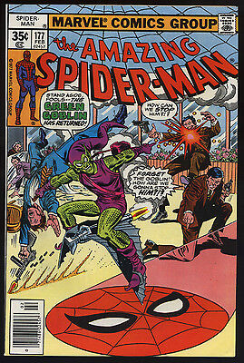 AMAZING SPIDER-MAN #177 Feb 1978 VF+ 8.5 OW/W GREEN GOBLIN App ANDRU Art MARVEL