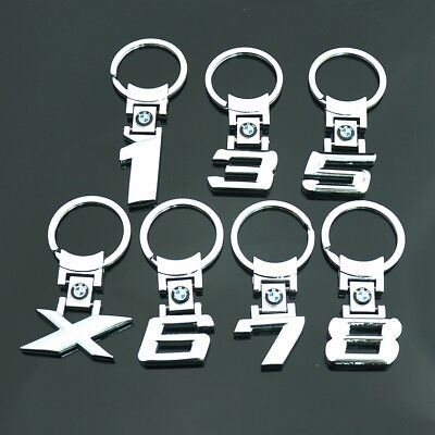 1/3/5/6/7/8/X Series Style Car Logo Key chains Collect Metal Keyring for BMW