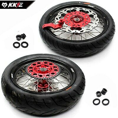 Honda Supermoto Motard Wheels Rim Set & Tire Tyre Crf250X 04-17 Crf450X 05-17