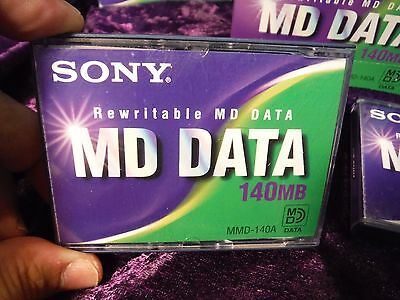 SONY MD DATA DISC 140MB => Tascam 564 Sony MDM-X4 Yamaha MD4 MD8 Recorder (USED)