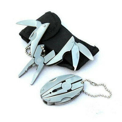 Multi Function Tools Set Mini Foldaway Keychain Pliers Knife Screwdriver Pocket
