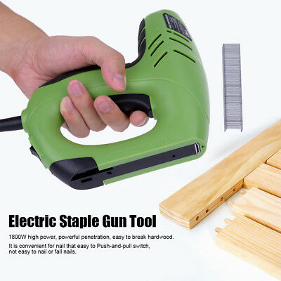 220V 1800W Electric Staple Gun Straight / Code Nails Dual Use Woodworking Tool