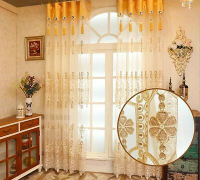 Transparent Window Dresser Living Room Curtain Bedroom Embroidered Curtain