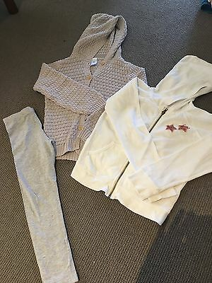 4 x Girls jumpers sz 8 MANGO, CLAESENS, BONDS, COTTON ON