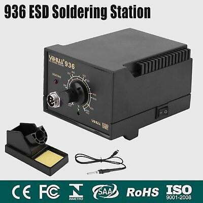 Pro 936 ESD Soldering Iron Tool Welding Soldering Station Hot Gun & CE Certs HO