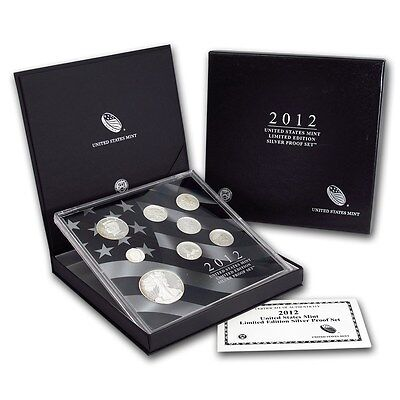 2012 Limited Edition Silver Proof Set United States Mint Original Packaging Box