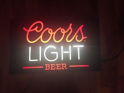 Vintage 1984 COORS LIGHT BEER Neon Plastic Light up Sign