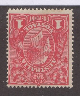 1d Red KGV - Watermark inverted - Nice Fresh Stamp - MLH
