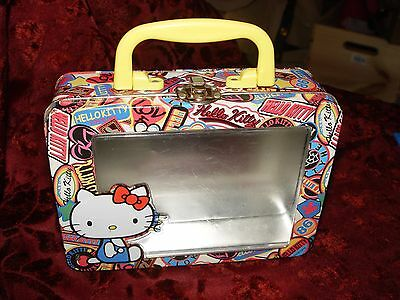 HELLO KITTY Tin Purse with Clear Plastic Front By Sanrio
