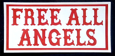 FREE ALL ANGELS  81 Support BHC Hells Angels Aufkleber Sticker Red & White