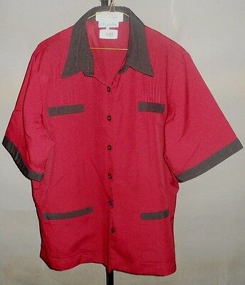Harrahs Casino Hotel Las Vegas Uniform Red Size 14