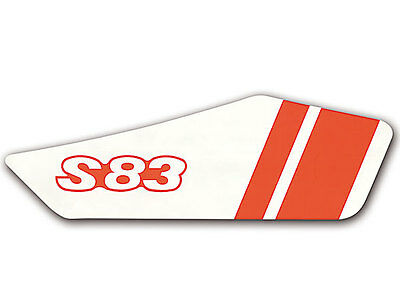 """Lettering (Film) """"S83B"""" right for Side fairing Adhesive foil MOTORCYCLE MOPED re"""