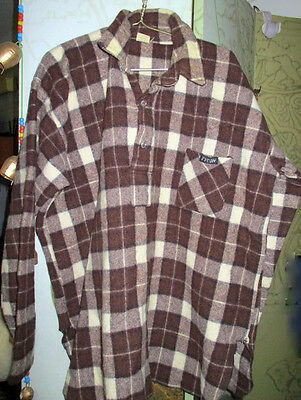 Men's Vintage Wool Bush Shirt size XL 100% Pure Australian Wool  by TYCON